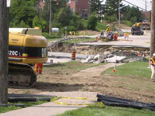 The Finch Avenue Washout in August 2005. Photo by L. Anders Sandberg.