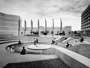 The amphitheatre space on the Ross terrace intended to be a gathering ground to students but since replaced by the Scott Religious Centre. http://mountmaxwellradio.com/2014/04/03/3714/